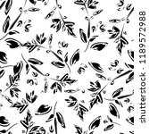 monochrome floral seamless ... | Shutterstock .eps vector #1189572988