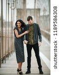 love story in new york.... | Shutterstock . vector #1189586308