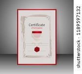 certificate of participation...   Shutterstock .eps vector #1189597132
