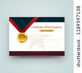 participation certificate best... | Shutterstock .eps vector #1189597138