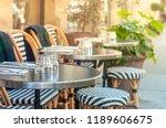 charming parisian sidewalk cafe | Shutterstock . vector #1189606675