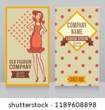 poster in retro american style  ...   Shutterstock .eps vector #1189608898