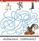cartoon illustration of lines... | Shutterstock .eps vector #1189616422