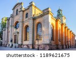 the great church  storkyrkan ... | Shutterstock . vector #1189621675