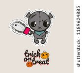 halloween stitch bear zombie... | Shutterstock .eps vector #1189624885