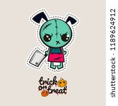 halloween stitch zombie puppy... | Shutterstock .eps vector #1189624912
