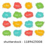 set of templates speech bubbles ...   Shutterstock .eps vector #1189625008