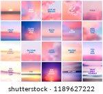 big set of 20 square blurred... | Shutterstock .eps vector #1189627222