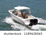 sport fishing boat cruising on ... | Shutterstock . vector #1189628365