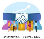 small people stand near big... | Shutterstock .eps vector #1189631332