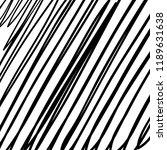 hand drawn black grunge... | Shutterstock .eps vector #1189631638