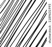 hand drawn black grunge... | Shutterstock .eps vector #1189631995