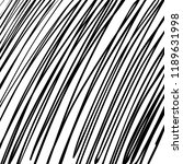 hand drawn black grunge... | Shutterstock .eps vector #1189631998
