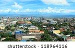 Panorama Of Cebu City. Cebu Is...