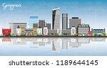 gurgaon india city skyline with ... | Shutterstock .eps vector #1189644145