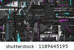 glitch background. computer... | Shutterstock . vector #1189645195