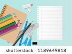 back to school concept with... | Shutterstock .eps vector #1189649818
