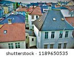colorful rooftops in bergen of... | Shutterstock . vector #1189650535