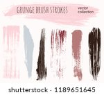 paint lines grunge collection.... | Shutterstock .eps vector #1189651645