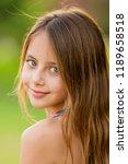 teenager girl close up portrait | Shutterstock . vector #1189658518