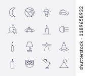outline 16 night icon set....   Shutterstock .eps vector #1189658932