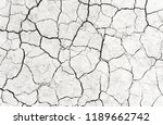 white dried and cracked ground... | Shutterstock . vector #1189662742