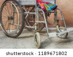 empty old wheelchair with... | Shutterstock . vector #1189671802