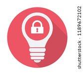 light bulb icon  idea  solution ... | Shutterstock .eps vector #1189672102