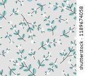seamless winter floral pattern... | Shutterstock .eps vector #1189674058