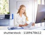 shot of young businesswoman... | Shutterstock . vector #1189678612