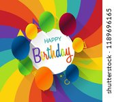 abstract celebration birthday... | Shutterstock .eps vector #1189696165