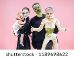 halloween family. happy father  ... | Shutterstock . vector #1189698622