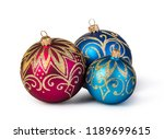 christmas balls isolated on... | Shutterstock . vector #1189699615