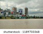 abidjan city from the lagoon ... | Shutterstock . vector #1189703368