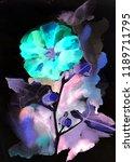 watercolor summer flowers.... | Shutterstock . vector #1189711795