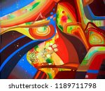 abstract texture with church.... | Shutterstock . vector #1189711798