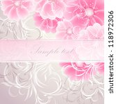 wedding card or invitation with ... | Shutterstock .eps vector #118972306