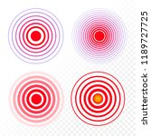 vector set red ring  pain...   Shutterstock .eps vector #1189727725