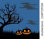 halloween background vector... | Shutterstock .eps vector #1189729528