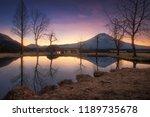 mt.fuji view at fumotoppara... | Shutterstock . vector #1189735678