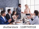 group of cheerful business...   Shutterstock . vector #1189745518