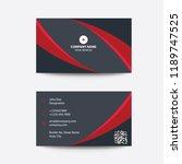 clean modern flat minimal red... | Shutterstock .eps vector #1189747525