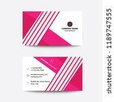 clean modern flat pink... | Shutterstock .eps vector #1189747555