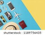 high angle view of travel... | Shutterstock . vector #1189756435