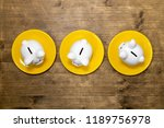 savings consumer concept. three ... | Shutterstock . vector #1189756978