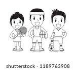 vector cartoon sport people for ...   Shutterstock .eps vector #1189763908