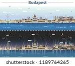 vector illustration of budapest ... | Shutterstock .eps vector #1189764265