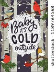 baby its cold outside hand... | Shutterstock .eps vector #1189764568