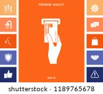 inserting credit card icon   Shutterstock .eps vector #1189765678