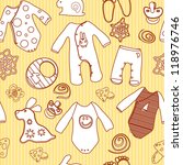 Baby Seamless Vintage Pattern...